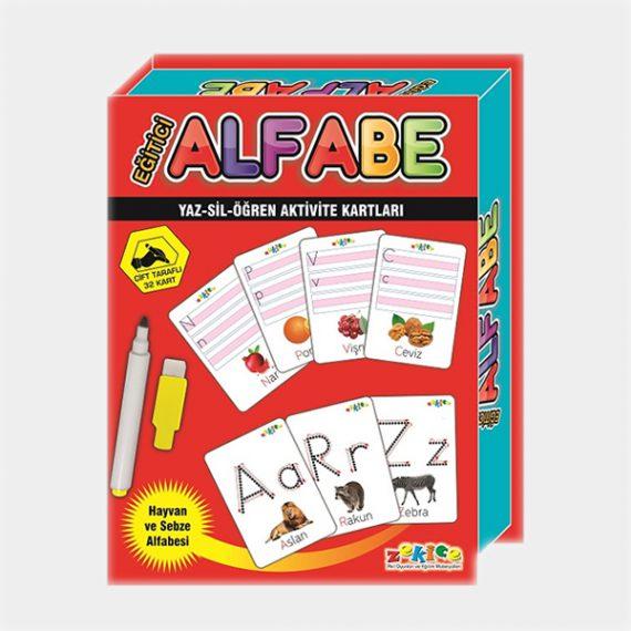 Eğitici Alfabe Harf Kartları